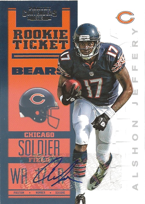 12 PC Alshon Jeffery Autograph Rookie Ticket