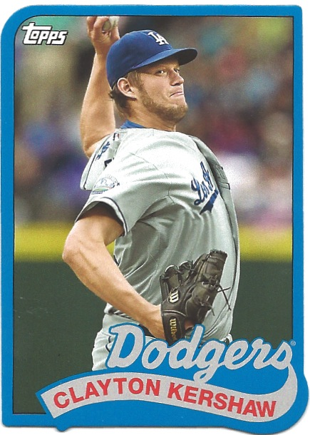 14 TO Clayton Kershaw 1989 Mini Die Cut