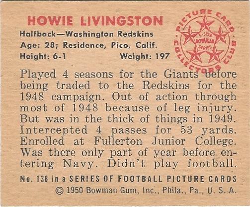 50 BO Howie Livingston B