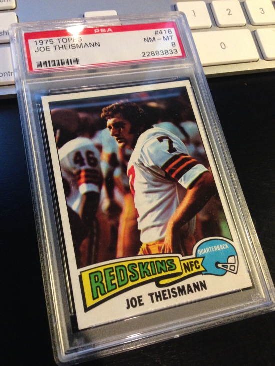 75 TO Joe Theismann PSA 8