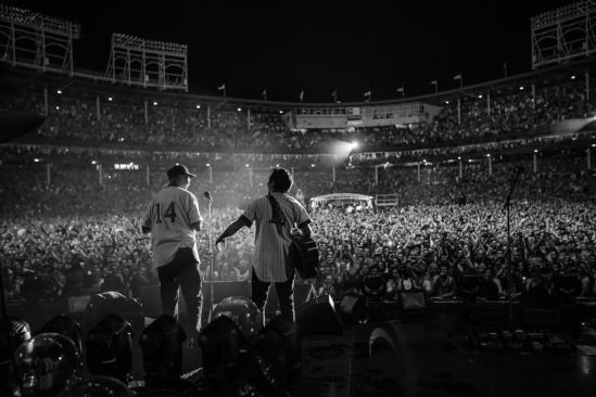 Ernie Banks and Eddie Vedder