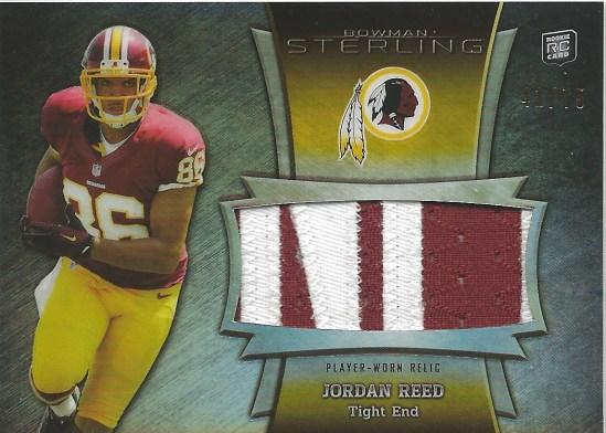 13 BS Jordan Reed Relic Jersey 41:75