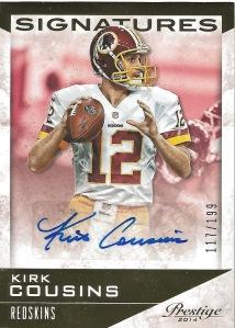 14 PP Kirk Cousins Signatures Auto 117:199