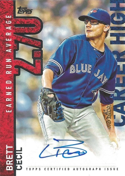 15 T1 Brett Cecil Career High Auto