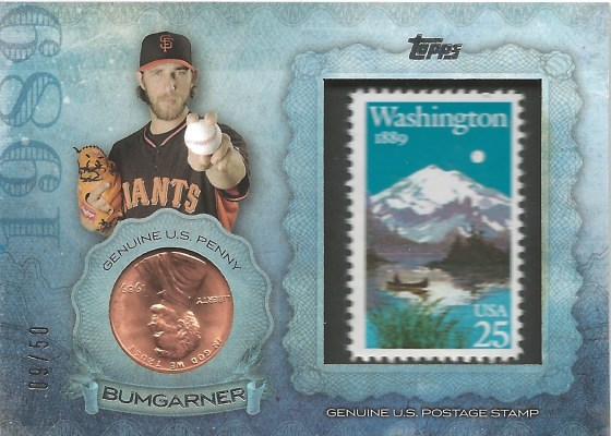 15 T1 Madison Bumgarner Penny Stamp