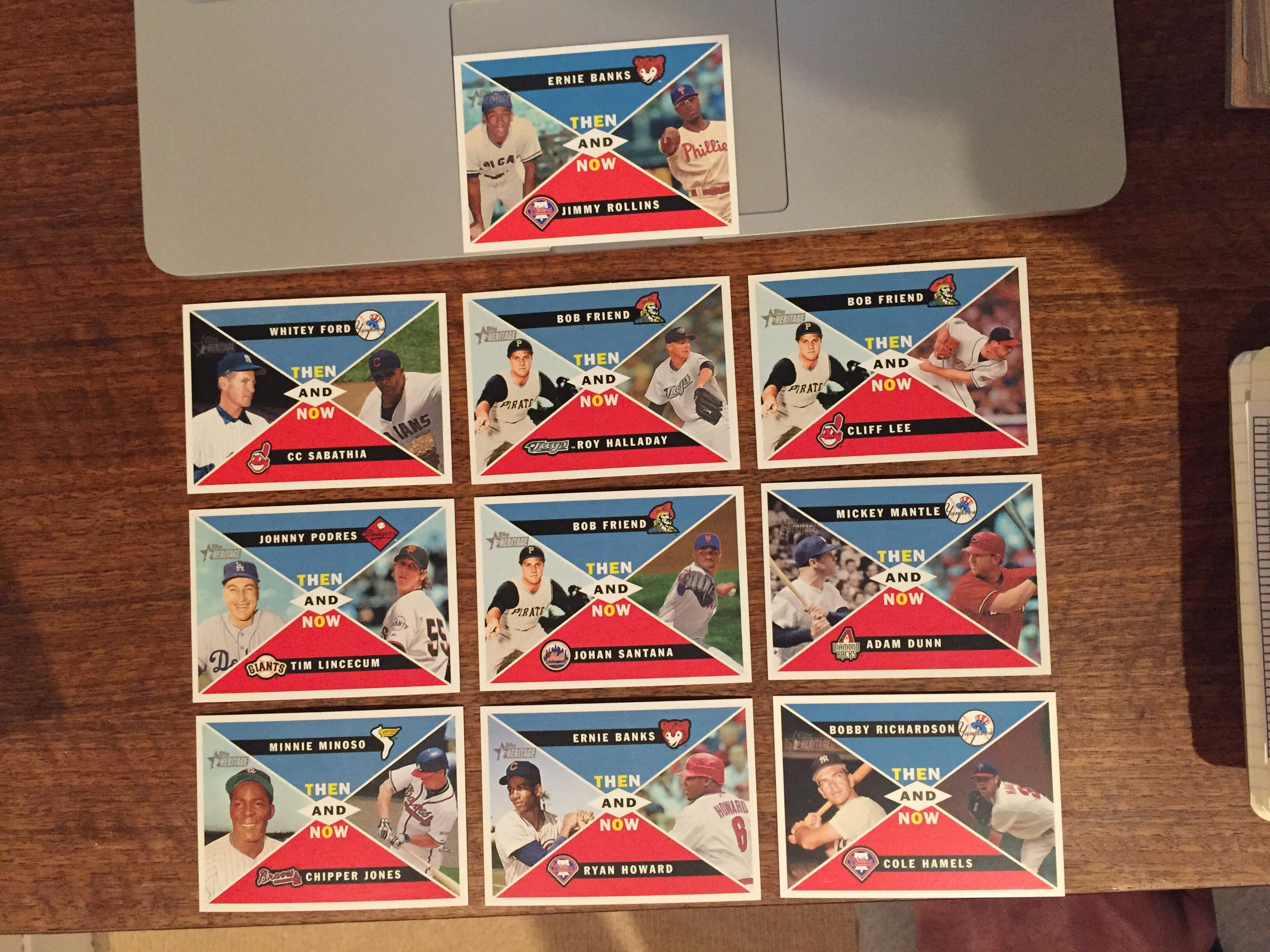 2009 Topps Heritage Then & Now